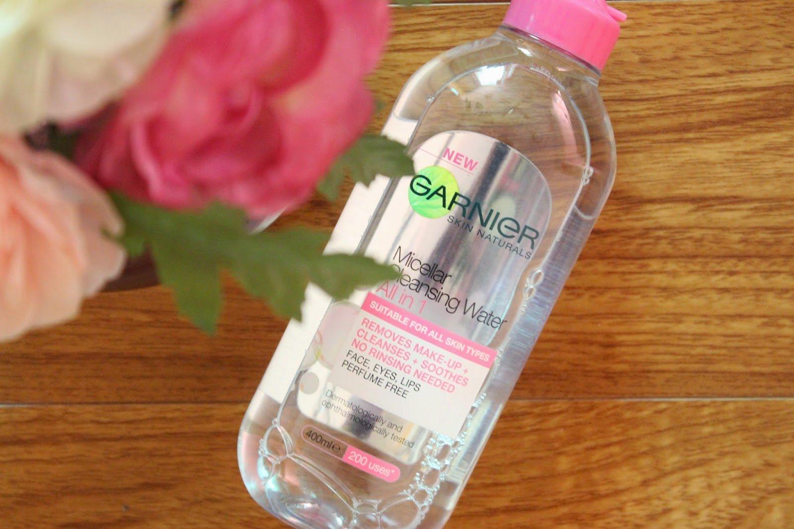 nước tẩy trang Garnier hồng