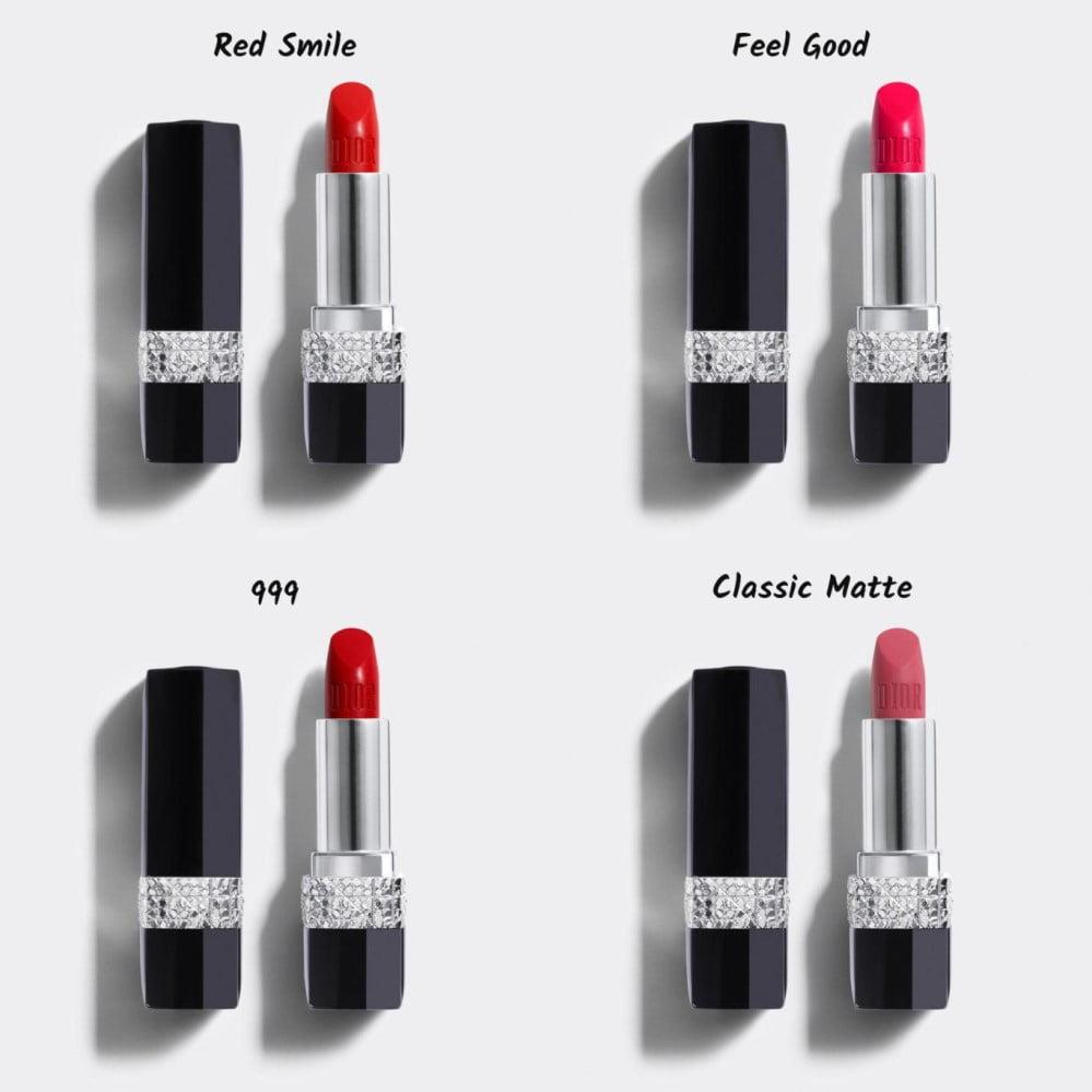 Màu 999 nổi bật trong bảng màu của son thỏi Dior Rouge