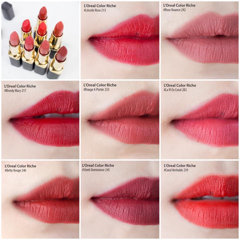 L'oreal Paris Makeup Color Riche Matte là item nên có trong bộ sưu tập son của các nàng